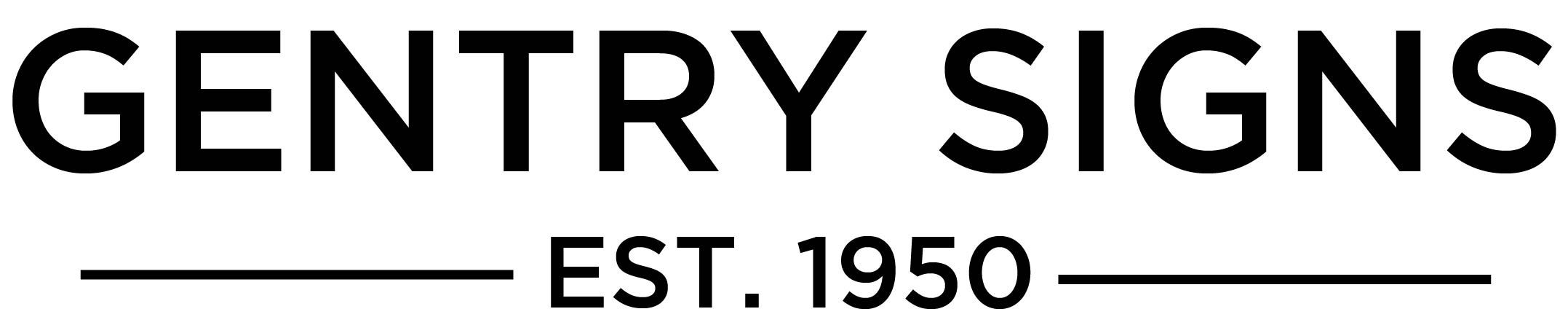 Gentry signs -horizontal logo - est 1950 Opens in new window
